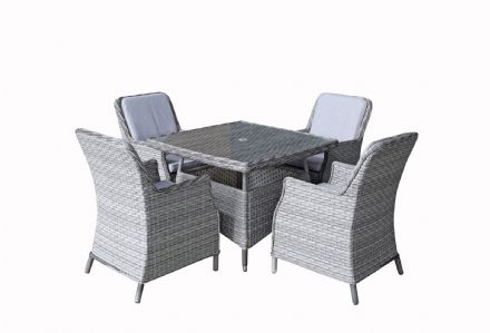 Edwina 4 Seat Square Dining Table Set